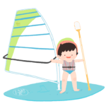 Windsurf para niños en blue center roquetas